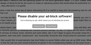 Ad Block Off request